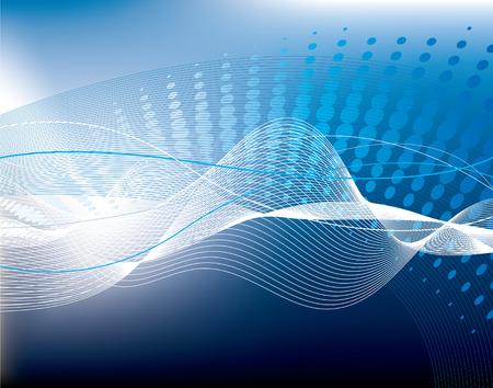 Blue high-tech vector background Reklamní fotografie - 5300477