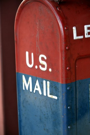 united states postal service: US Mailbox Stock Photo