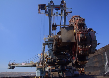 Detail of excavator in the mine Stock Photo - 12546245