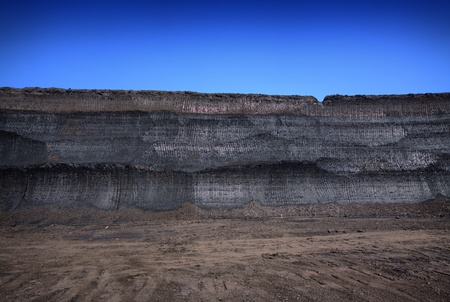 Lignite in mine 70ft thickness Stock Photo - 12542217