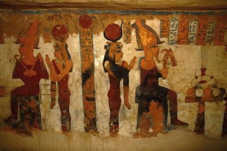 The tomb fresco