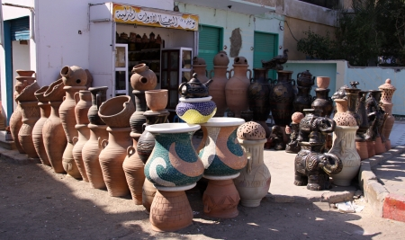 Ceramics shop on the street