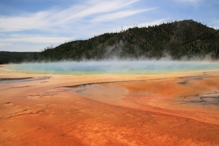 Yellowstone National Park, Geyser Country,Wyoming   Idaho Stock Photo