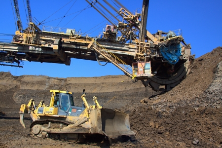 Excavator and doser Stock Photo - 16908794