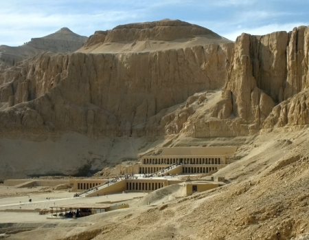 The Mortuary Temple of Queen Hatsepsut ,view from near hill
