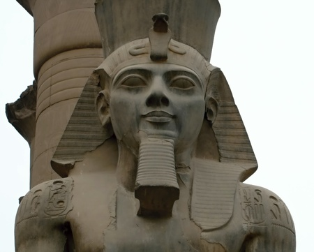 Statue of Ramesse II in Luxor temple