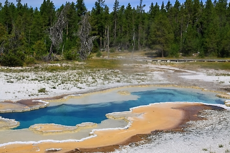doublet: Doublet Pool - Yellowstone  Stock Photo