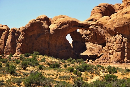 Arch in Canyonlands National Park near Moab, Utah, USA  Stock Photo