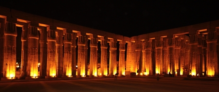 Luxor temple at night, Egypt  photo