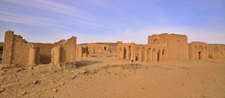 The Necropolis of Al-Bagawat is one of the oldest Christian cemeteries in the world. Stock Photo