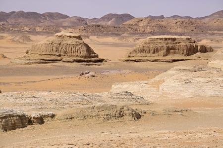 Lybian desert in Egypt Stock Photo