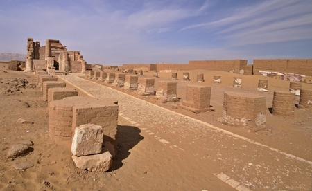 The temple of Deir el-Hagar,Roman monuments in Dakhla Oasis,Egypt