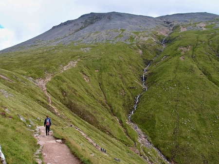 Trail  on Ben Nevis in the Scotland highlands Stock Photo