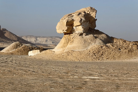 the Rock formations at the Western White Desert National Park of Egypt