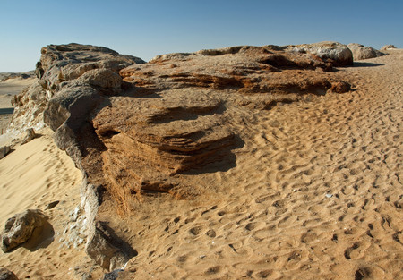 mountain oasis: Crystal mountain, the crystal hills near Farafra oasis ,Egypt
