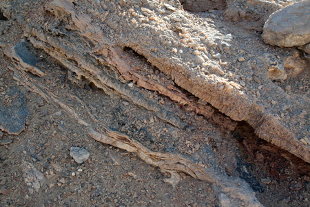 Detail of crystal vein in the sand,Crystal mountain,Egypt