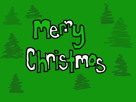 Child like green merry christmas background.