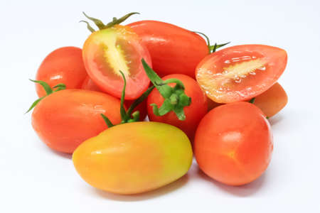 avail: fresh cherry tomatoes on white background II