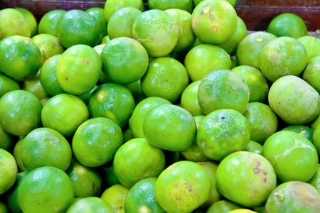 fresh lime at the market Stock Photo
