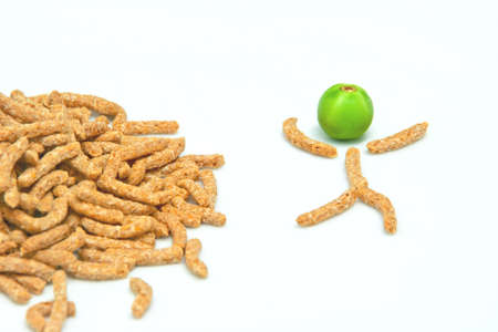Wheat bran breakfast cereal eats for good health Stock Photo