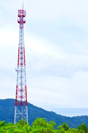 a communications tower for tv radio and cell phone networks
