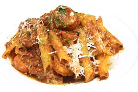 sauce tomate: penne p�tes italiennes � la sauce tomate et parmesan
