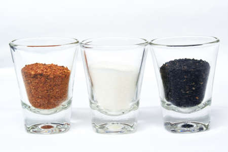 Ingredients in foods prepared in a transparent glass