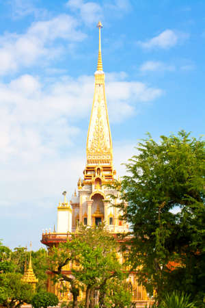The pagoda is located in the temple,Phuket Thailand