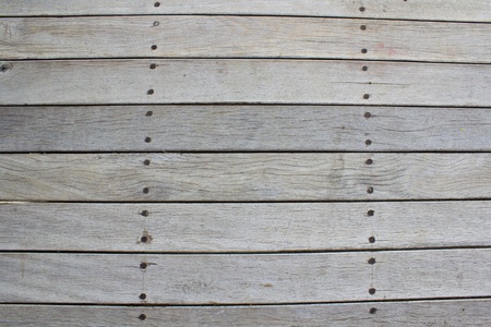 Old wood is attached with screws