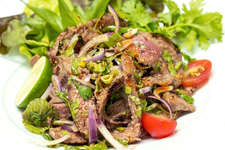 Grilled beef with thai herb salad