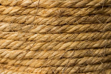 bonding rope: Background of hemp rope Stock Photo