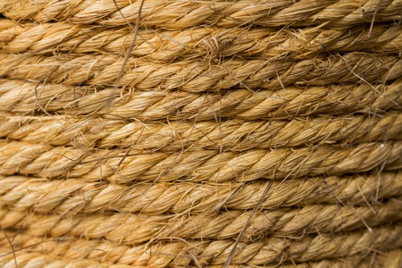 braided flexible: Background of hemp rope Stock Photo
