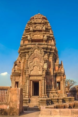 prodigious: Temple made of stone situated on a mountain in Thailand Stock Photo