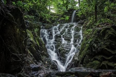 Beautiful cascading waterfall in thailand