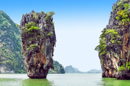 James Bond Island is a limestone located in Ao Phang Nga national park, Thailand photo
