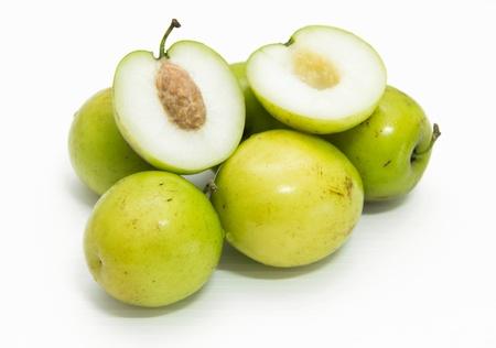 jujube fruits: Monkey apple fruit on white background
