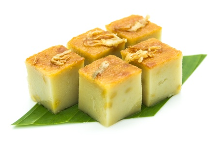 Thai dessert made from eggs and coconut milk photo
