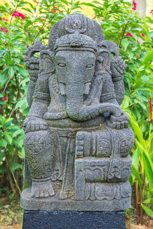 Sculpture of indian god ganesh photo