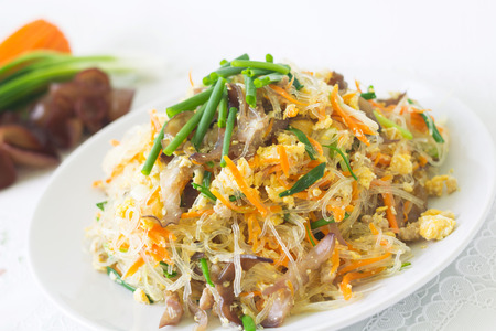 sen: Fried vermicelli noodle  Pad Wun Sen  Stock Photo