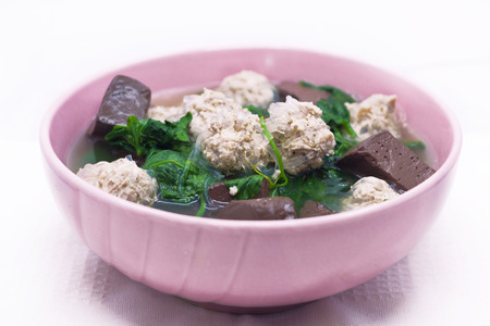 eats: Ivy gourd soup with pork and chicken blood