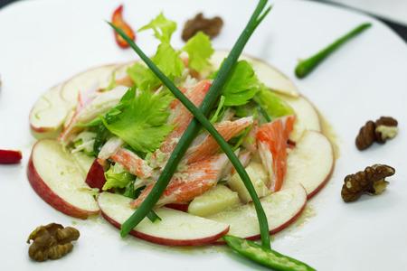 Crab Sticks Salad Stock Photo