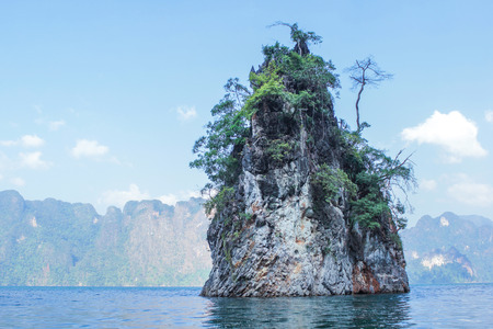 High Mountains at Ratchaprapha Dam, Khao Sok National Park, Surat Thani Province, Thailand photo