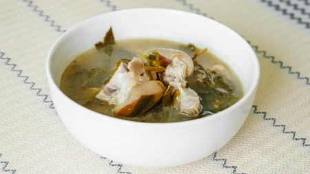 cha: Pork Stew with Cha Muang Leaves