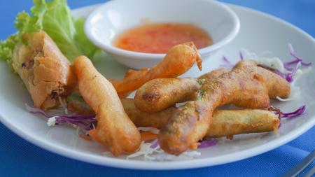 deep fried: Deep fried vegetables