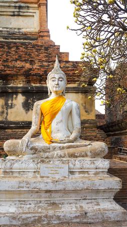 ayuttaya: Buddha statue in Wat Yai Chai Mongkol. Ayuttaya, Thailand