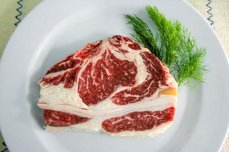 rib eye: Rib eye beef