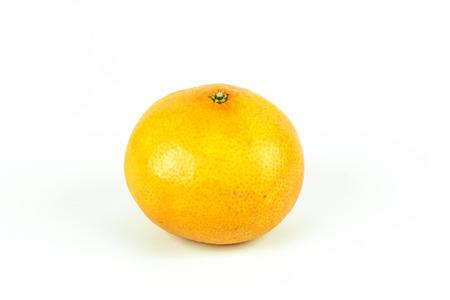 appetising: orange fruit slice isolated on white background