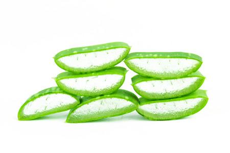 aloe barbadensis: Slice Aloe Vera (Aloe barbadensis Mill.,Star cactus, Aloe, Aloin, Jafferabad or Barbados) a very useful herbal medicine for skin care