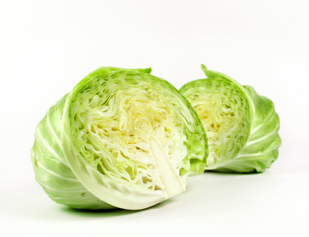 green cabbage: sliced and cut fresh green cabbage organic vegetable
