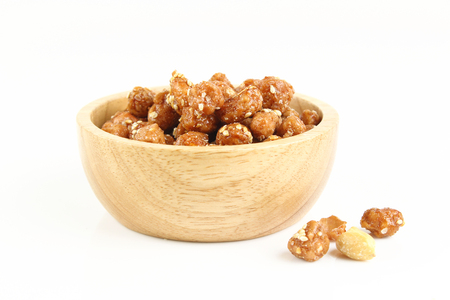 sugared peanut with white sesame